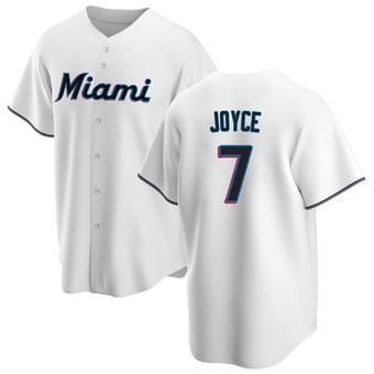 Men's Matt Joyce Miami White Replica Home Baseball Jersey (Unsigned No Brands/Logos)