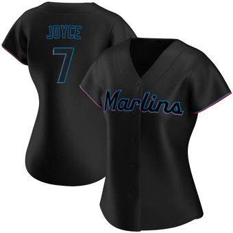 Women's Matt Joyce Miami Black Authentic Alternate Baseball Jersey (Unsigned No Brands/Logos)